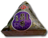 The wrapped onigiri from the convenience store